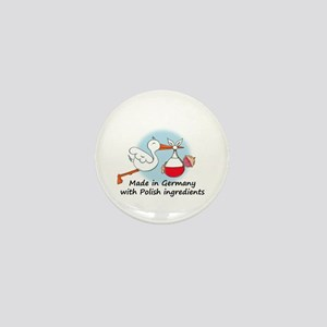 Stork Baby Poland Germany Mini Button