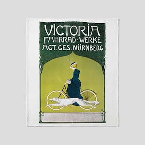 Vintage Art Nouveau Poster Throw Blanket