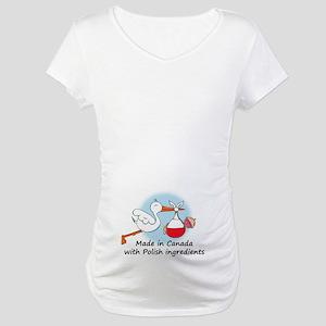 Stork Baby Poland Canada Maternity T-Shirt