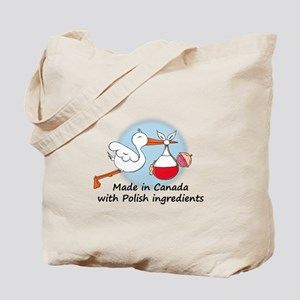 Stork Baby Poland Canada Tote Bag