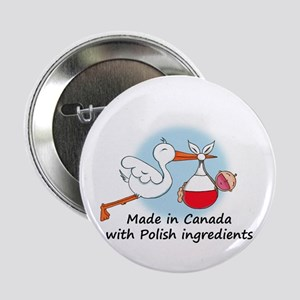 "Stork Baby Poland Canada 2.25"" Button"