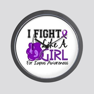 Licensed Fight Like a Girl 15.5 Lupus Wall Clock