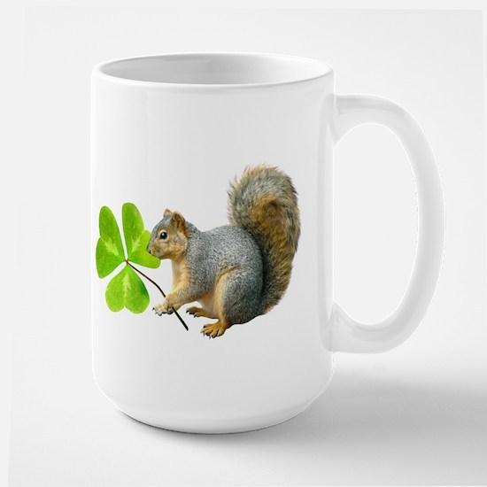Shamrock Squirrel Large Mug