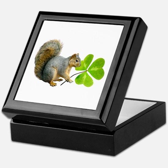 Shamrock Squirrel Keepsake Box