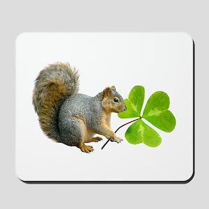 Shamrock Squirrel Mousepad