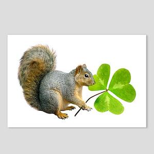 Shamrock Squirrel Postcards (Package of 8)