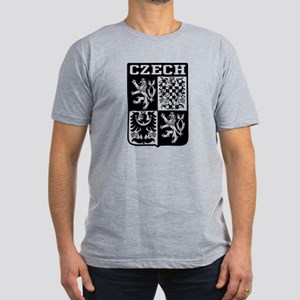 Czech Coat of Arms Men's Fitted T-Shirt (dark)