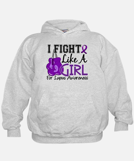 Licensed Fight Like a Girl 15.5 Lupus Hoodie