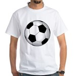 Soccer Ball White T-Shirt