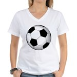Soccer Ball Women's V-Neck T-Shirt