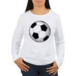 Soccer Ball Women's Long Sleeve T-Shirt