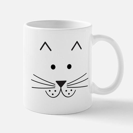 Cartoon Cat Face Mug