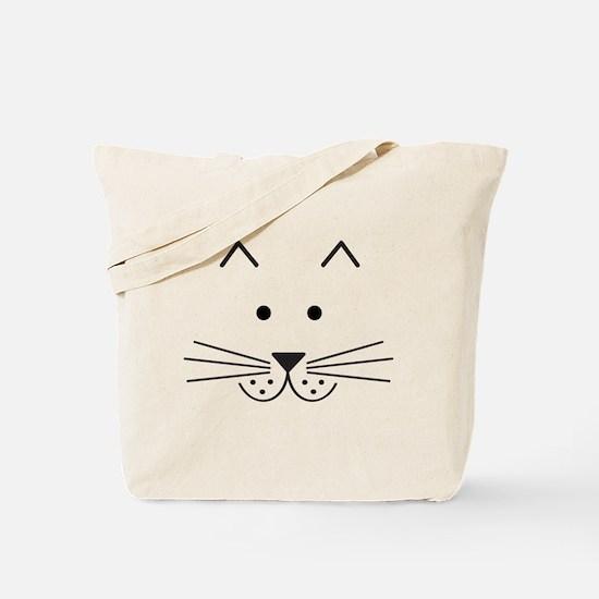 Cartoon Cat Face Tote Bag