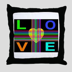 Love Rays Sunshine Heart Throw Pillow
