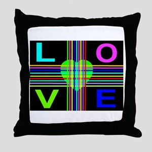 Love Rays Sweet Lime Heart Throw Pillow