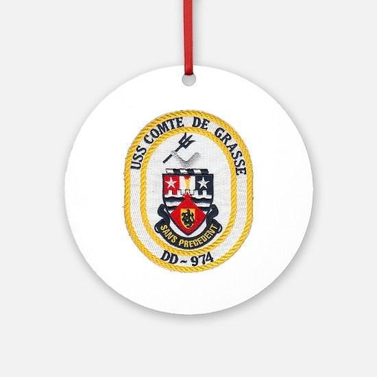 USS COMTE DE GRASSE Ornament (Round)