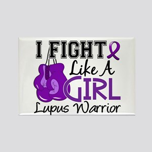 Licensed Fight Like a Girl 15.2 L Rectangle Magnet