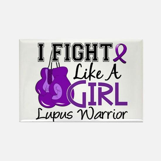 Licensed Fight Like a Girl 15.2 L Rectangle Magnet