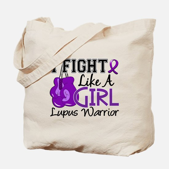 Licensed Fight Like a Girl 15.2 Lupus Tote Bag