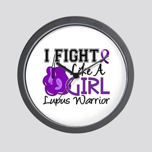 Licensed Fight Like a Girl 15.2 Lupus Wall Clock