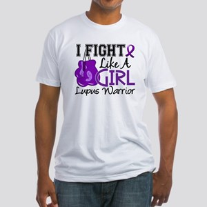 Licensed Fight Like a Girl 15.2 Lup Fitted T-Shirt