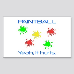 Paintball Hurts Sticker (Rectangle)