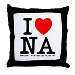 I Love New Amsterdam Throw Pillow