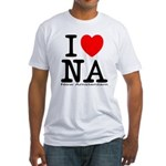 I Love New Amsterdam Fitted T-Shirt