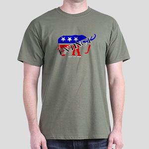 Extinct Republican Party Symbol Dark T-Shirt