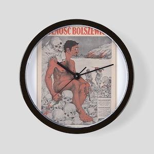 Vintage poster - Wolnosc Bolszewicka Wall Clock