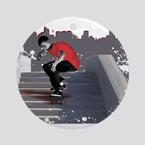 8 Stair Ollie Ornament (Round)