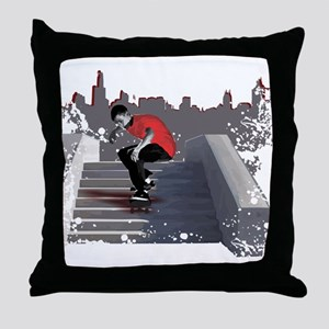 8 Stair Ollie Throw Pillow