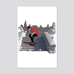 8 Stair Ollie Mini Poster Print