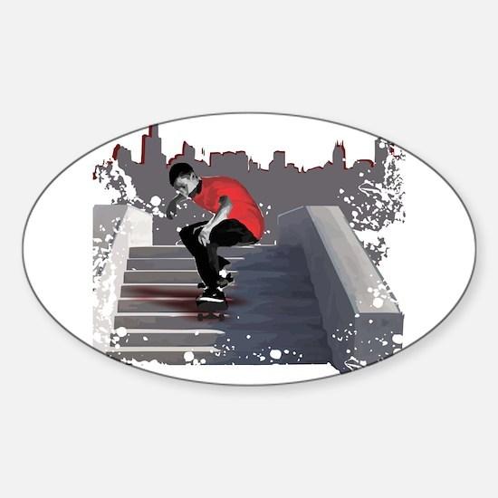 8 Stair Ollie Sticker (Oval)