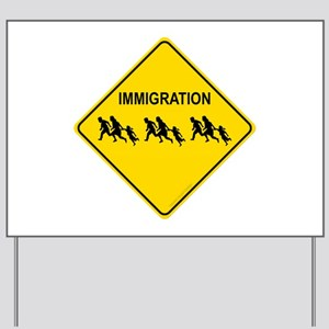 Immigration Crossing Yard Sign