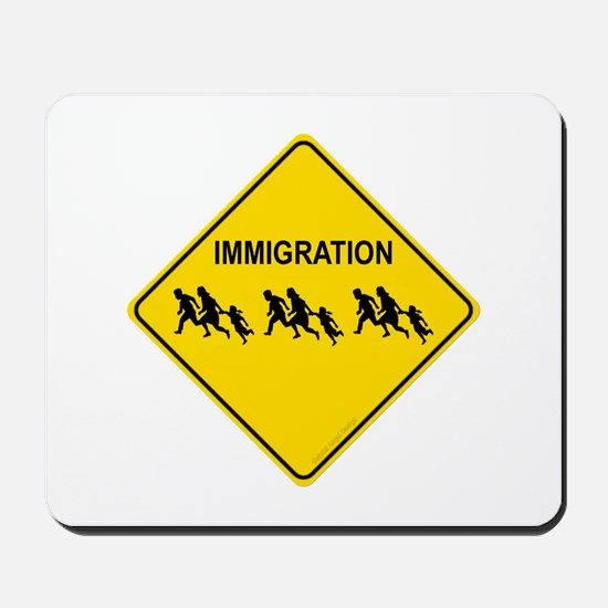 Immigration Crossing Mousepad