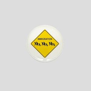 Immigration Crossing Mini Button
