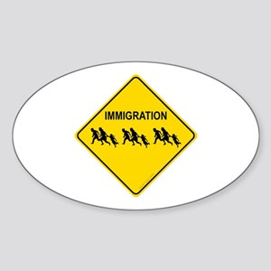 Immigration Crossing Sticker (Oval)
