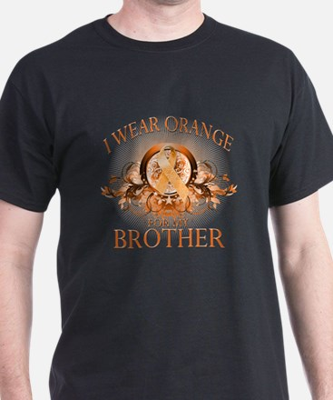 I Wear Orange for my Cousin (floral) T-Shirt