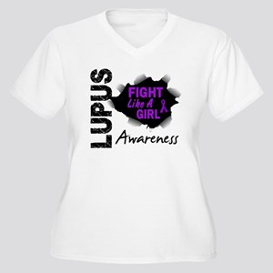 Fight Like A Girl Lupus Women's Plus Size V-Neck T