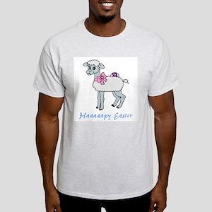 Haaaapy Easter (lamby) Ash Grey T-Shirt