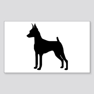 MinPin Silhouette Rectangle Sticker