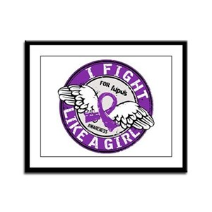 Fight Like A Girl Lupus Framed Panel Print