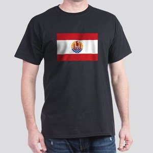 French Polynesia Flag Dark T-Shirt