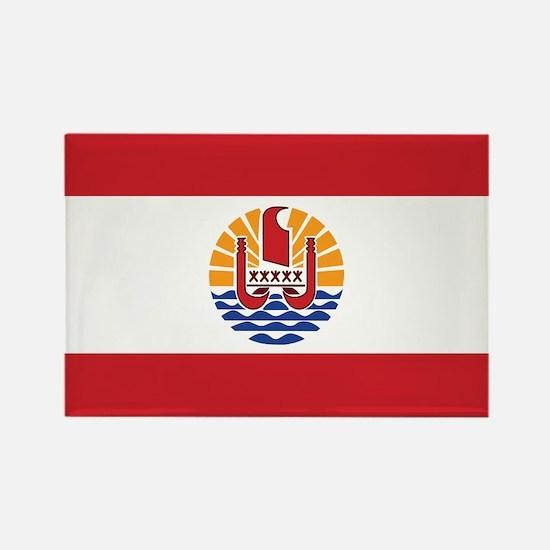 French Polynesia Flag Rectangle Magnet