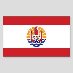 French Polynesia Flag Sticker (Rectangle)