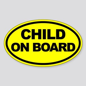 Baby on Board Car Stickers Sticker (Oval)