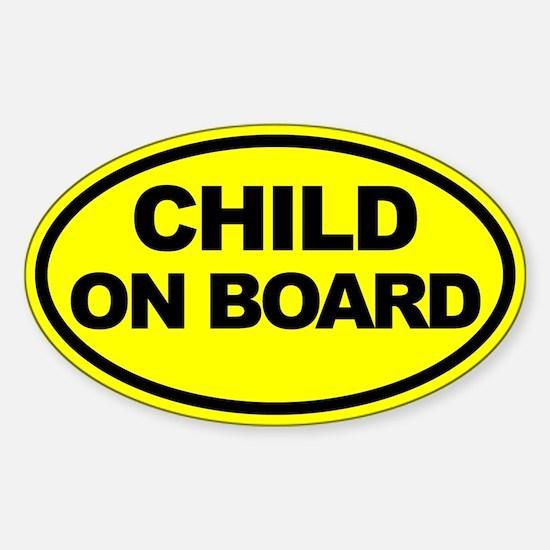 Baby on Board Car Stickers Sticker (Oval)