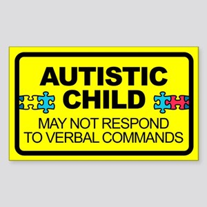 Autism Child Car Decal Sticker (Rectangle)