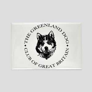The Greenland Dog Club Of GB Rectangle Magnet